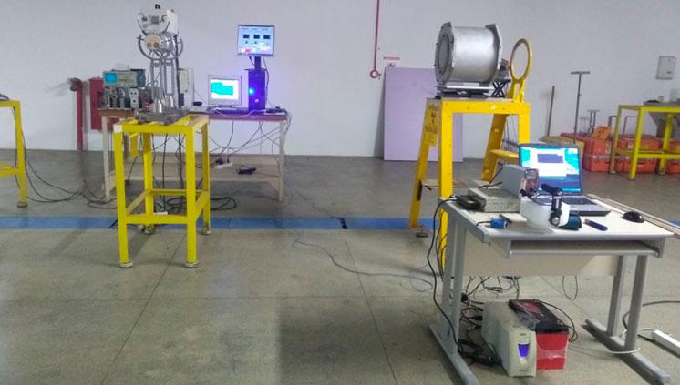 O LN realiza medições de fluência de nêutrons no IEAv