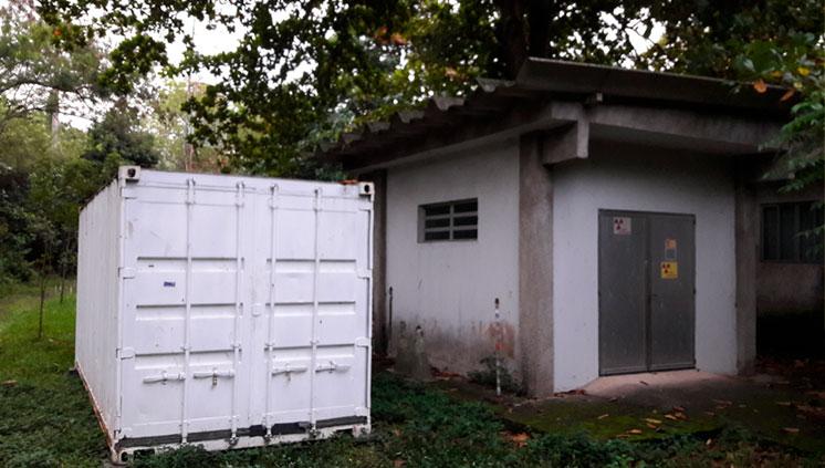 LN instala container para armazenamento de blindagens de fonte de nêutrons
